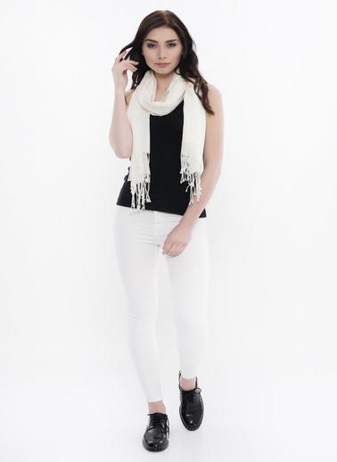 Silk and Cashmere Şal Beyaz